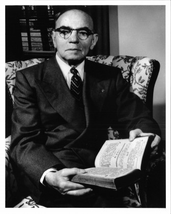 Osias Zwerdling, Founder and first president of Beth Israel Congregation, 1918-1958. 75th birthday, November, 1953.