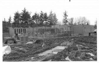 Building the synagogue at 2000 Washtenaw.
